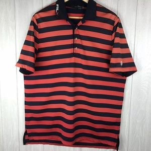 Ralph Lauren RLX ombré striped polo style shirt